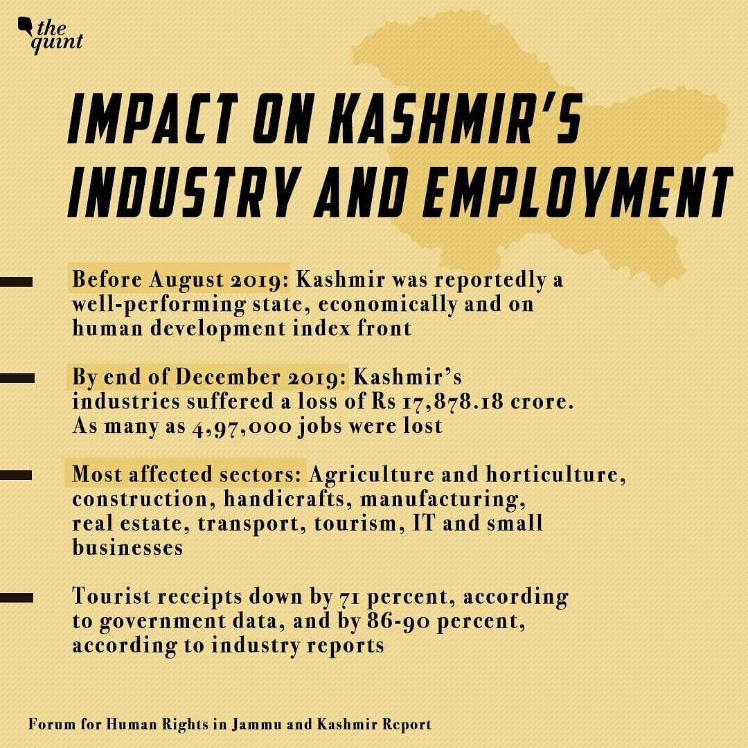 Impact on Kashmir's Industry and Employment.