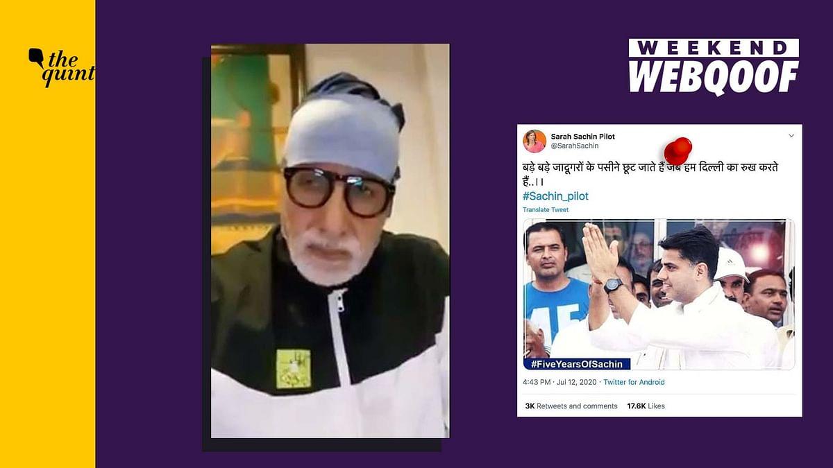 WebQoof Recap: From Amitabh's Viral Clip to Fake Sara Pilot Tweet