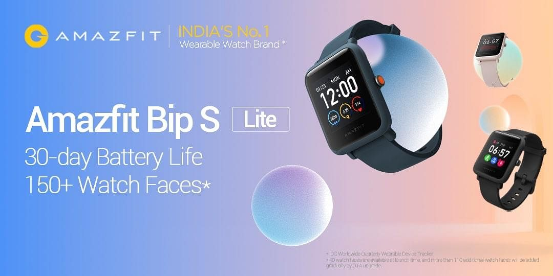 Amazfit Bip S Lite Watch to be on Flash Sale at 12 pm on 29 July