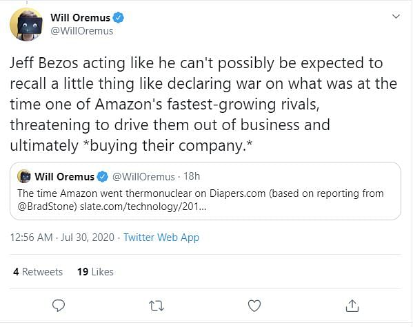 William Oremus, who is a Senior Writer at tech website OneZero.