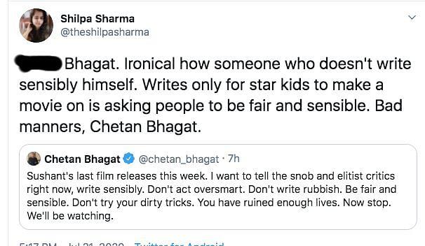 Chetan Bhagat Called Out for His 'Snob & Elitist Critics' Tweet