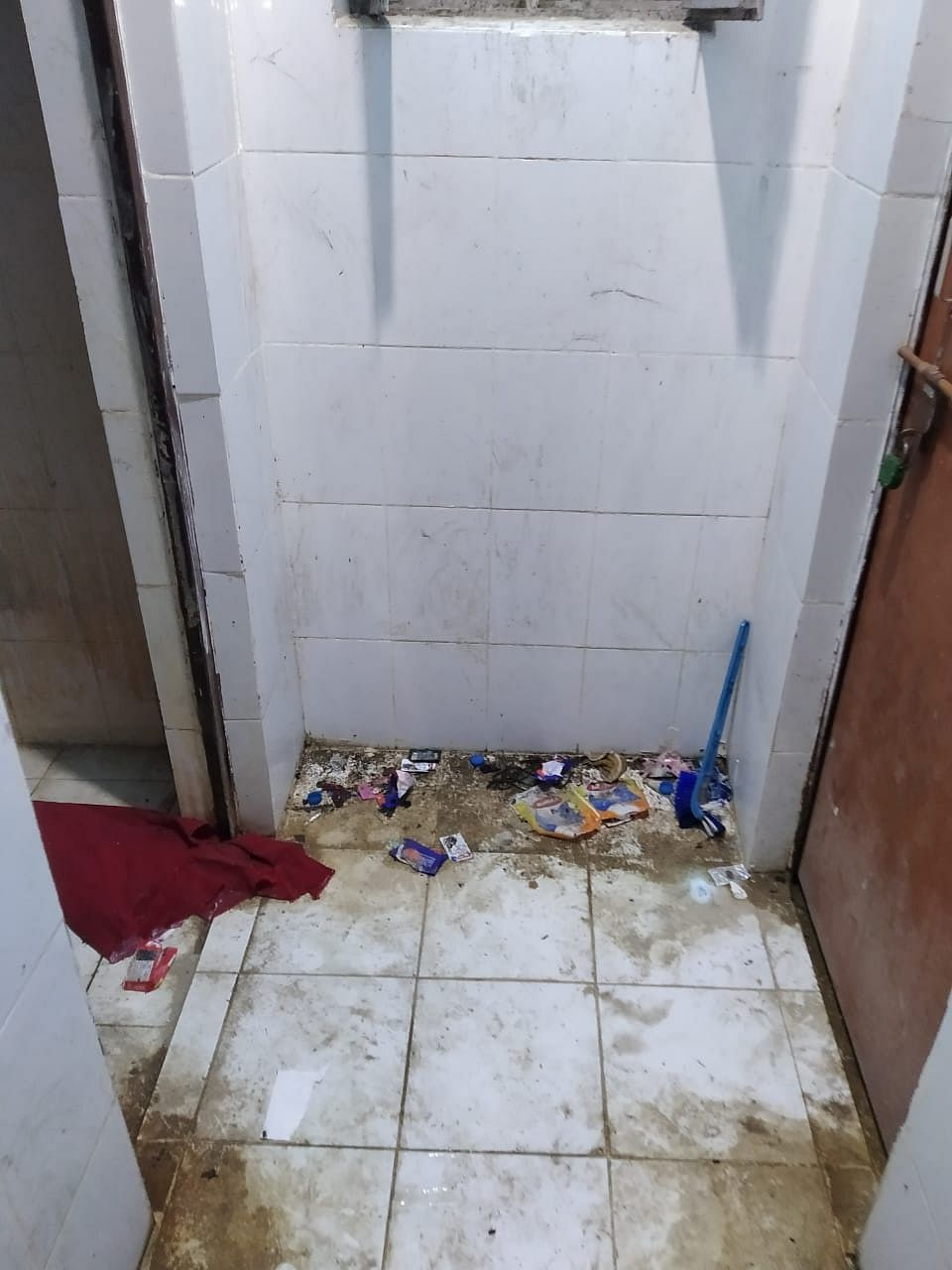 State of bathrooms in the ward.