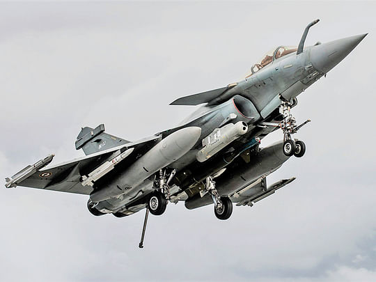 A French Dassault Rafale fighter plane.