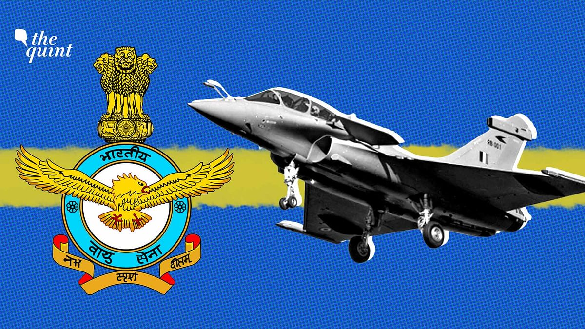 Image of a Rafale aircraft and IAF logo used for representational purposes.