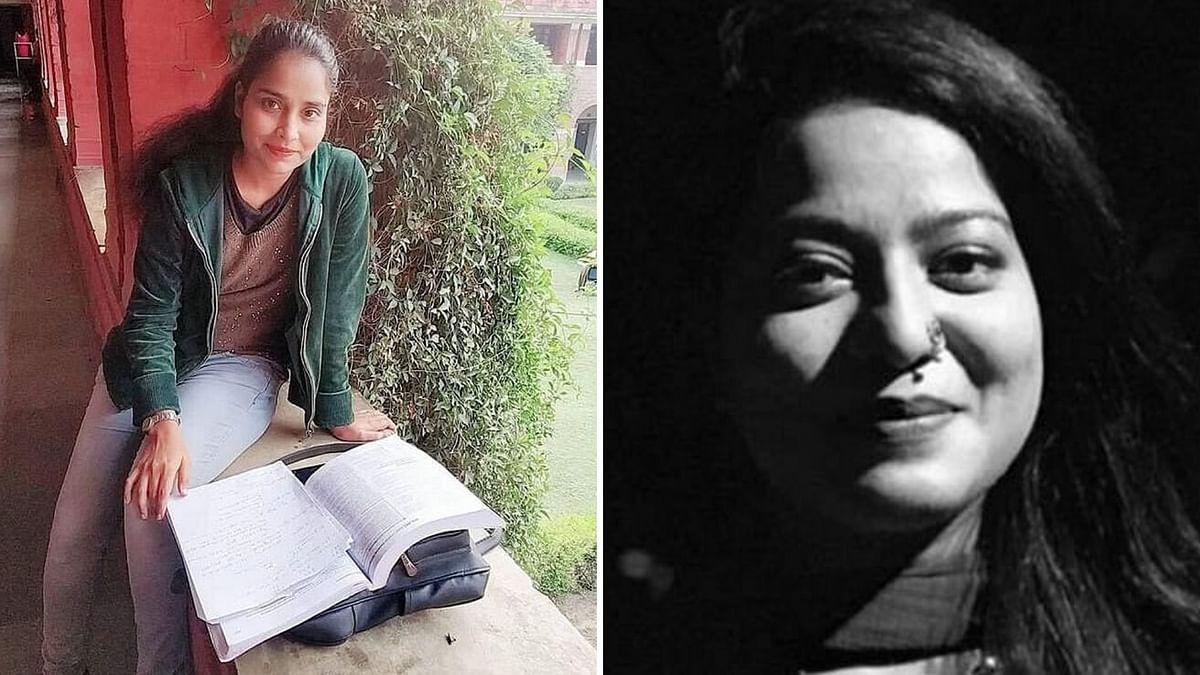 Delhi riots accused Gulfisha Fatima (L) and Safoora Zargar (R).