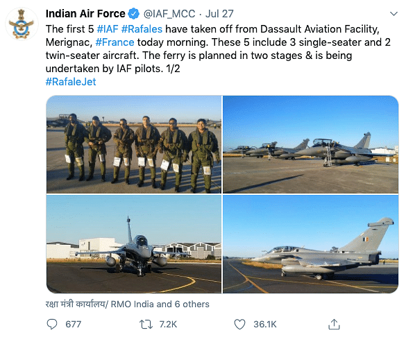 Rafale Jets Get Fuel Mid-Air, IAF 'Appreciates Help' From France