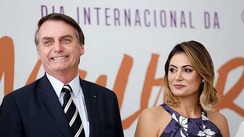 Brazil First Lady Tests COVID +Ve Days After Bolsonaro's Recovery