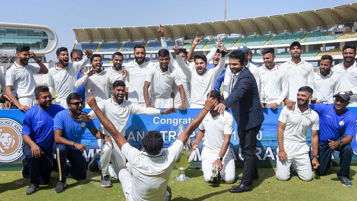 Saurashtra are the defending champions of the Ranji Trophy which they won earlier this year in March beating Bengal in the final.