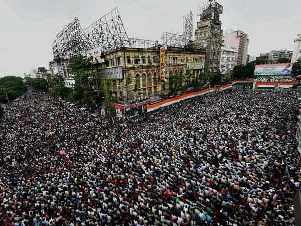 Image from Trinamool's Shahid Diwas rally in 2014.