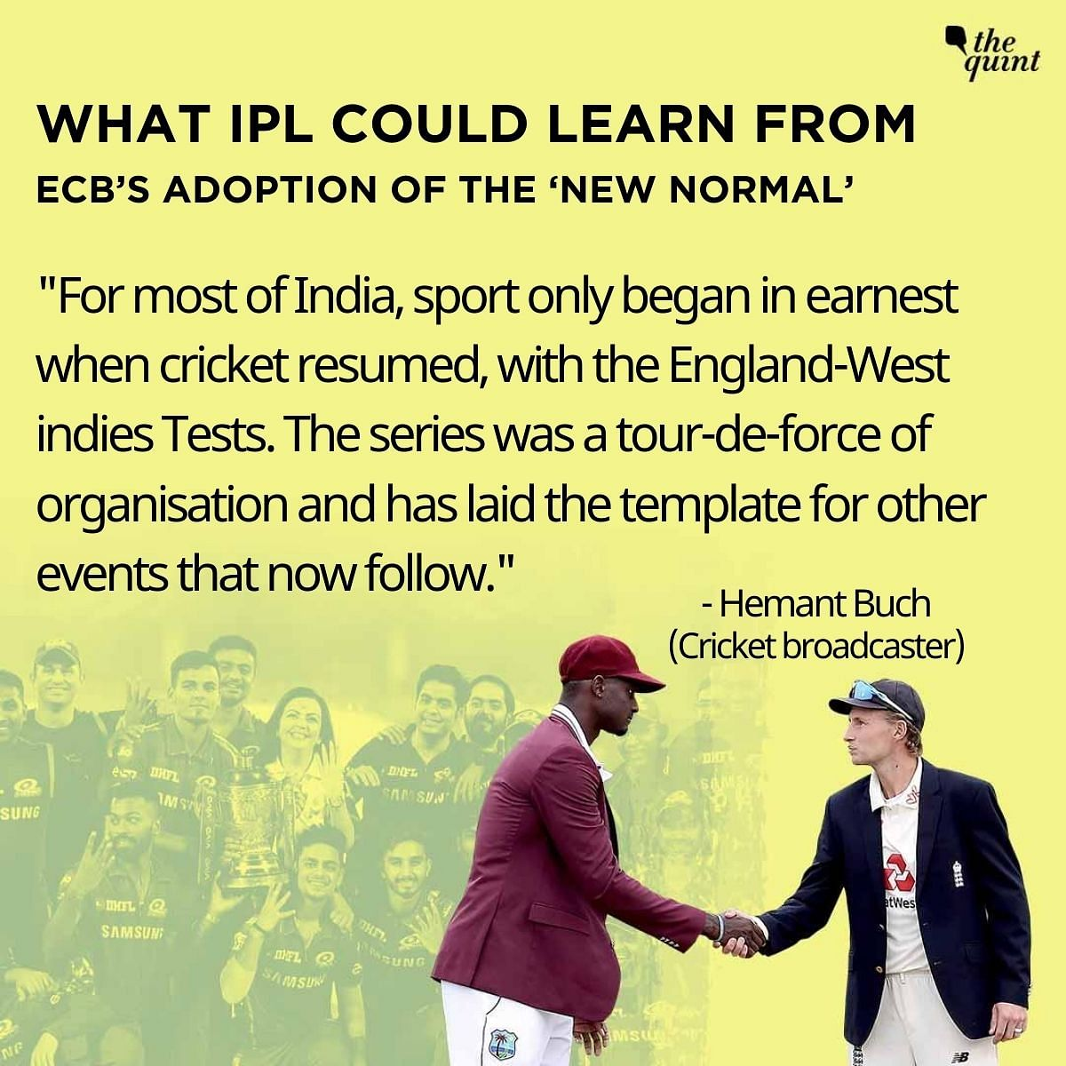 England-WI Test Series Learnings Could Help BCCI Pull Off IPL