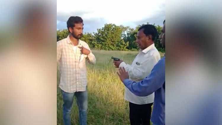 Ex-Telangana MLA Brandishes Gun, Threatens Construction Workers