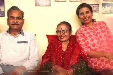 Gunjan Saxena with her parents.