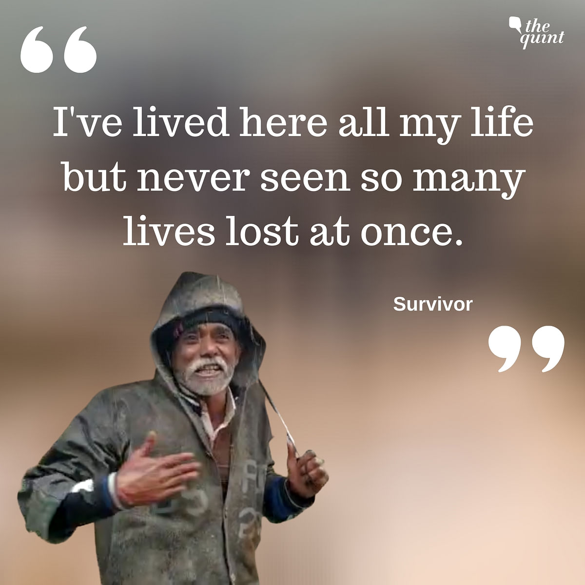 Survivor said he has never seen so many deaths at once.
