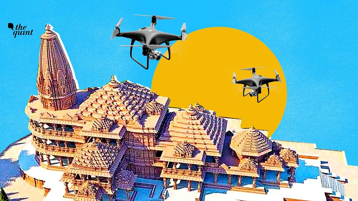 Cops Deployed Non-Compliant Chinese Drones At Ayodhya Bhoomi Pujan