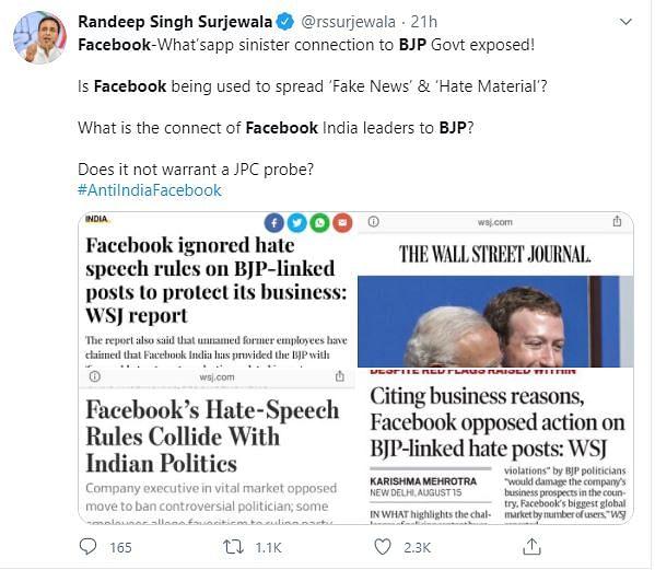 'FB-BJP Bhai Bhai': Upheaval in India Over Facebook's 'BJP Bias'