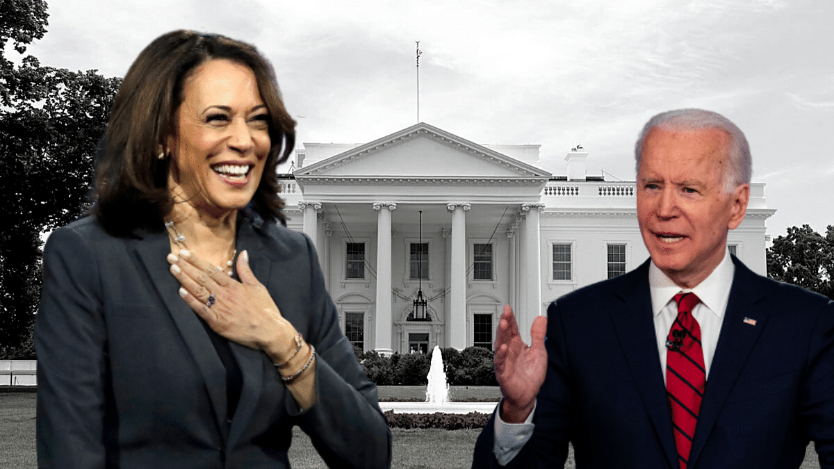 A file photo of Kamala Harris, who was announced as Joe Biden's running mate for the upcoming US Presidential elections on 3 November.