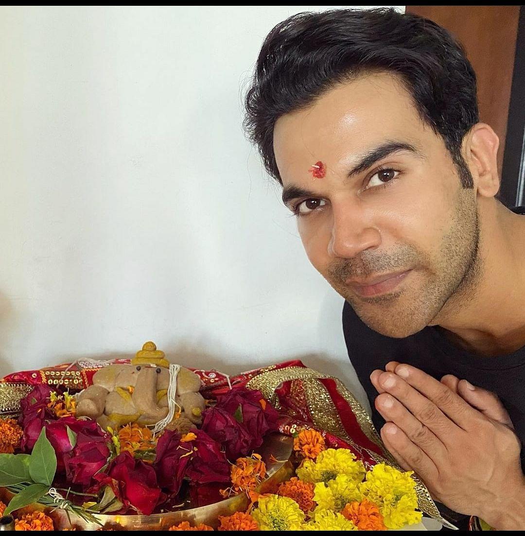 Rajkumar celebrating Ganesh Chathurthi.