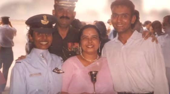 Gunjan Saxena was with her family.
