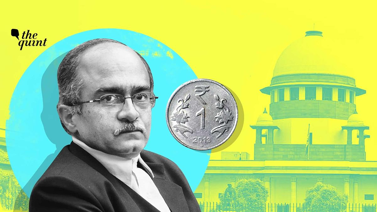 Advocate and activist Prashant Bhushan on Monday, 14 September, deposited in the Supreme Court Registry the draft of the one rupee fine that was imposed on him by the Supreme Court .