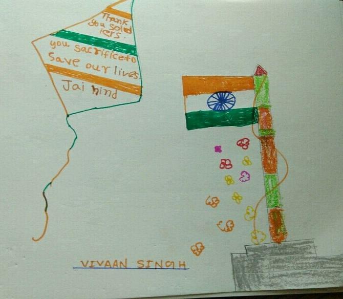 Vivaan Singh sends his sandesh to a soldier