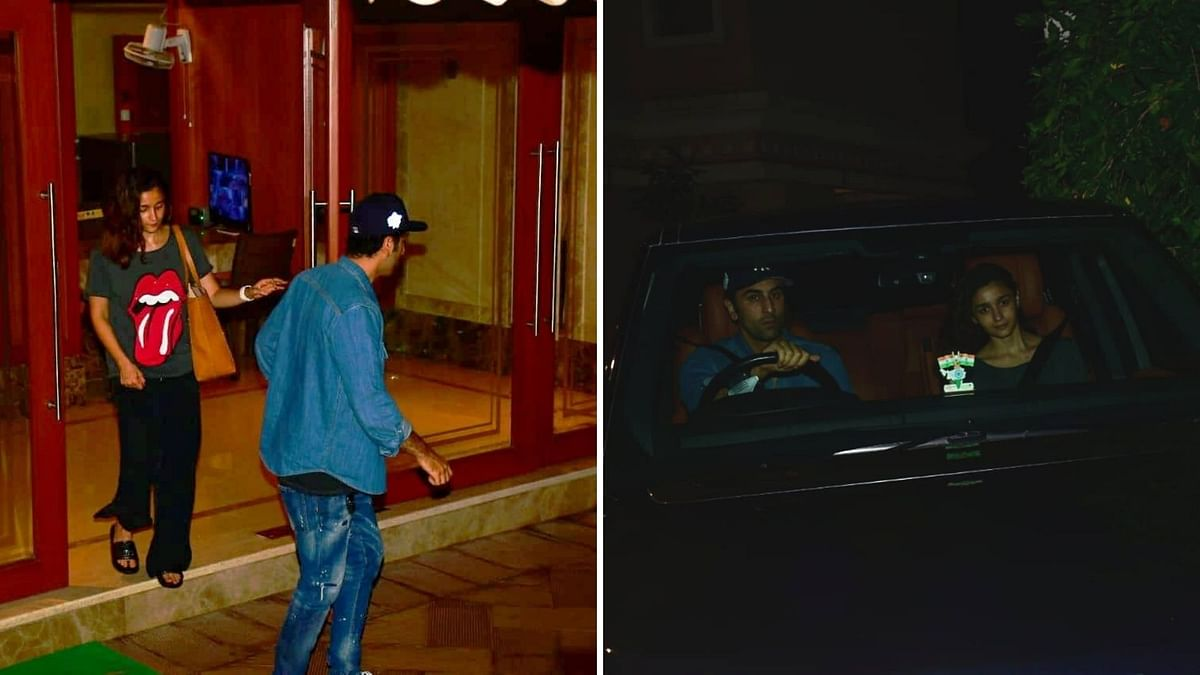 Alia, Ranbir were seen at Sanjay Dutt's Mumbai residence.