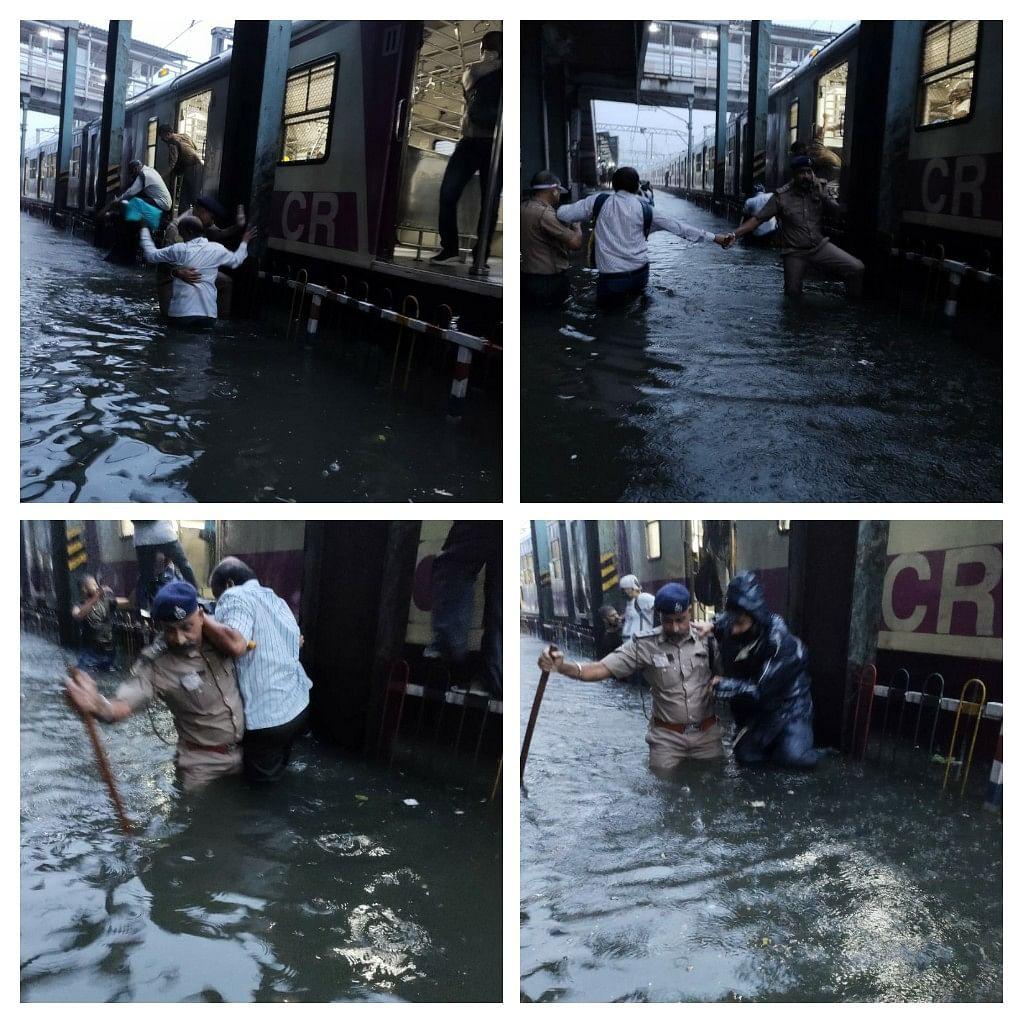 Hundreds Stranded as 2 Mumbai Local Trains Stuck on Flooded Tracks