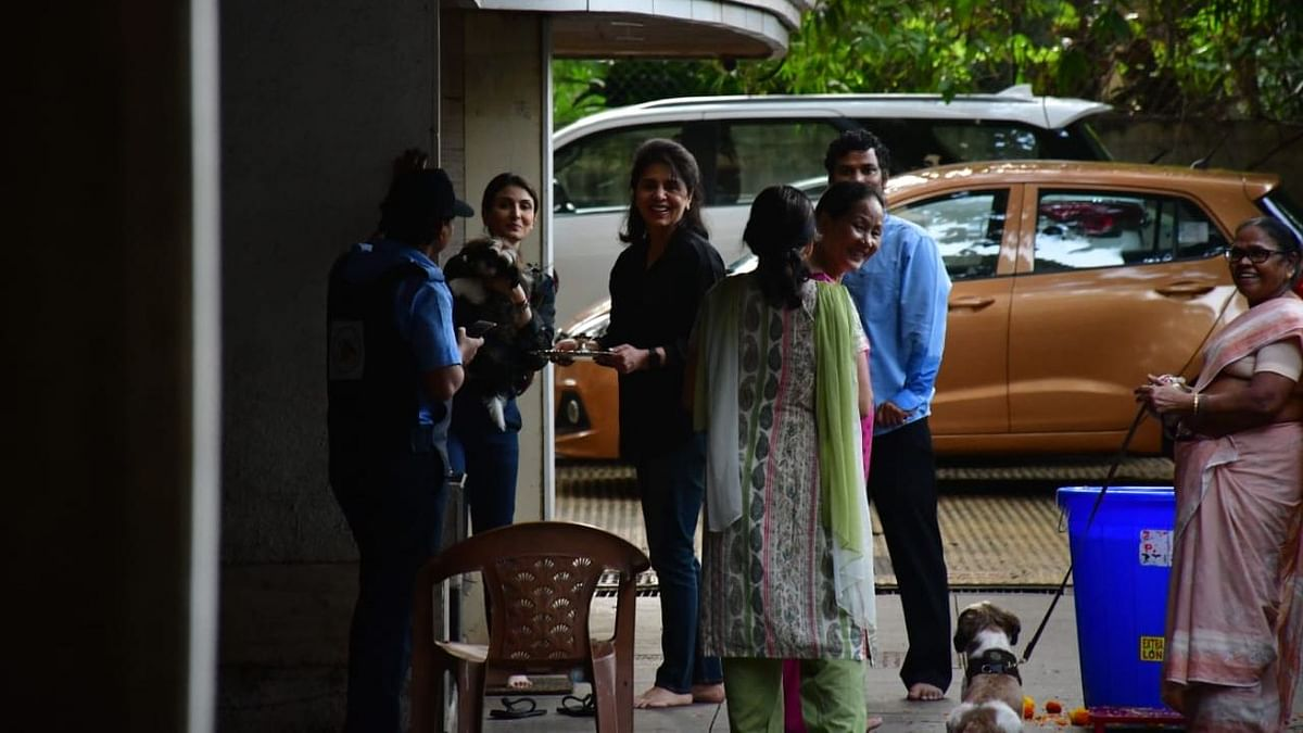Neetu Kapoor and her daughter, Riddhima Kapoor at their house.