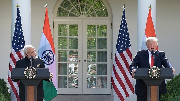 A June 2017 image of US President Donald Trump and Prime Minister Narendra Modi at the Rose Garden of the White House in Washington.