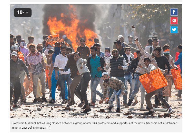 The image is from February and has been credited to PTI photographer Ravi Chaudhary.