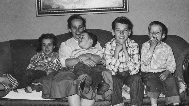 Joe Biden with his mother and siblings.