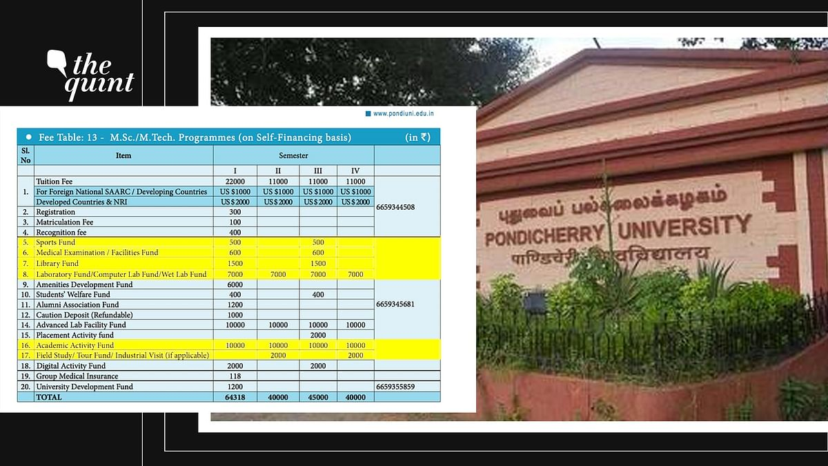 Students of Pondicherry University have demanded that the management rework the fee structure.