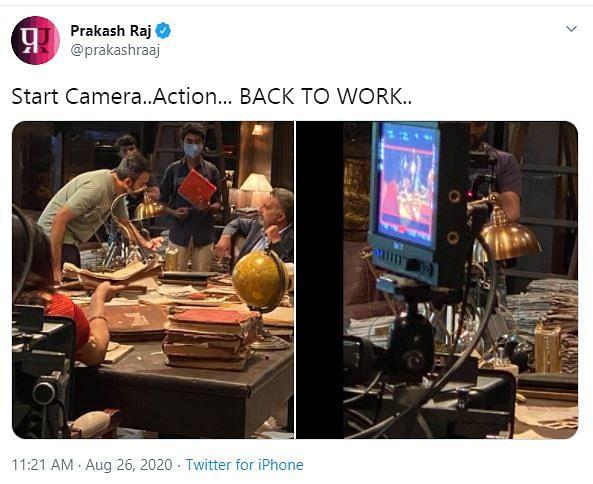 Prakash Raj Shares Photographs as 'KGF: Chapter 2' Shoot Resumes