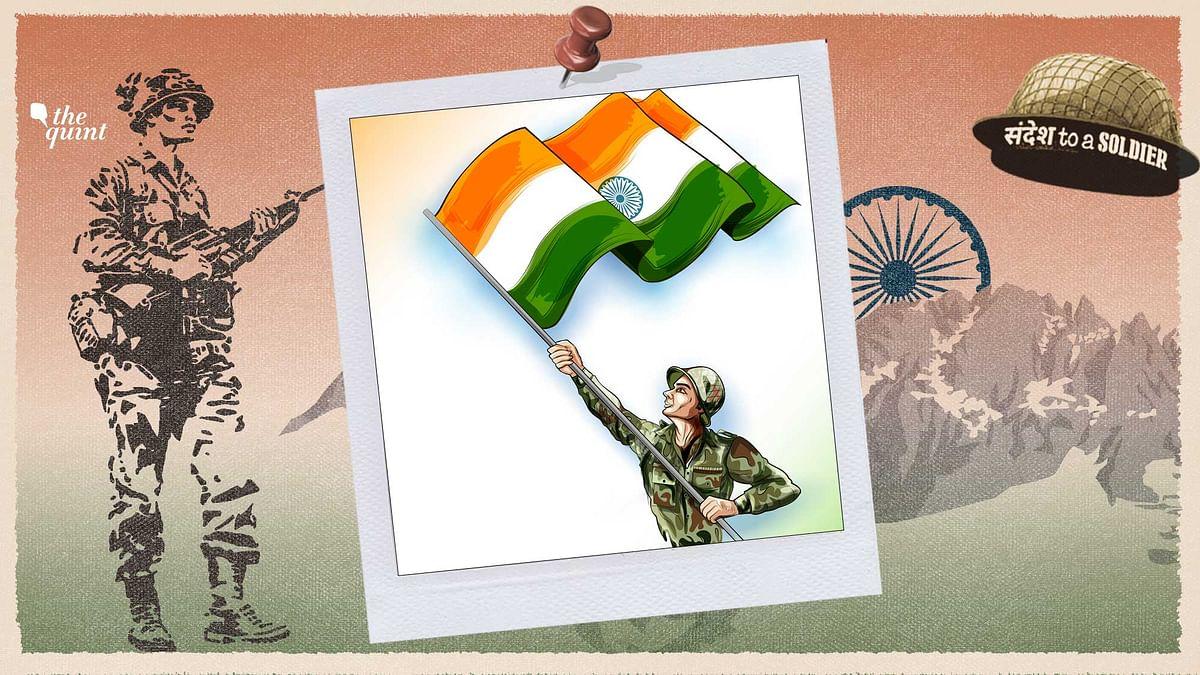 Yashika Kashyap sends her sandesh to a soldier.
