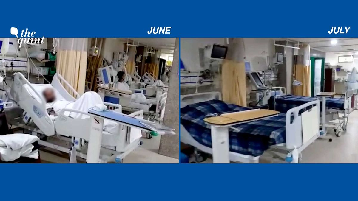 As the number of daily infections fell in July, the progress also reflected in some of Delhi's private hospitals.