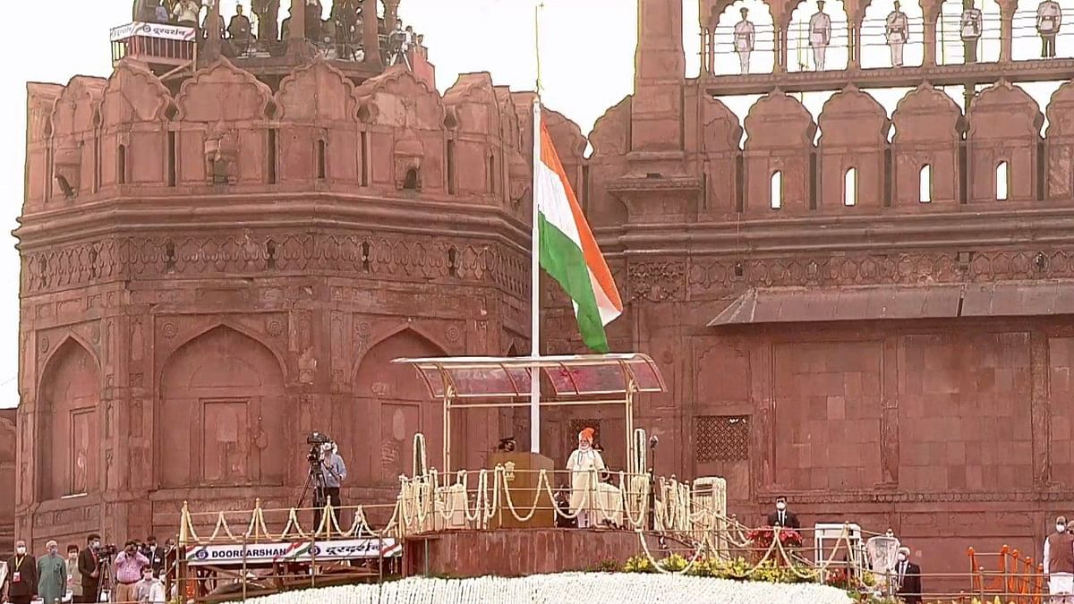 Prime Minister Narendra Modi begins addressing the nation from Red Fort.