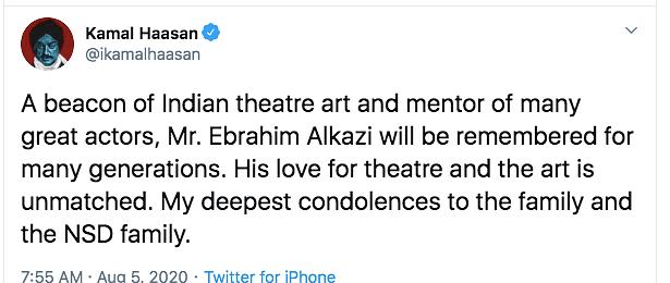 Beacon of Indian Theatre: B'Wood Pays Tribute to Ebrahim Alkazi