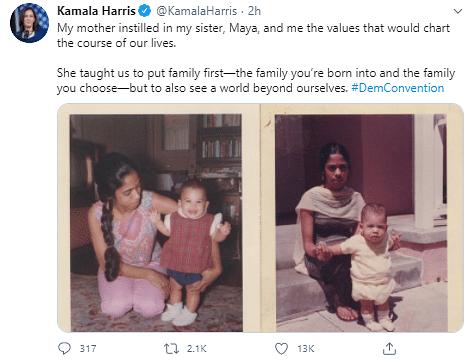 Kamala Harris Speech Kamala Harris Uses Tamil Word Chithis In Speech Twitter Reacts