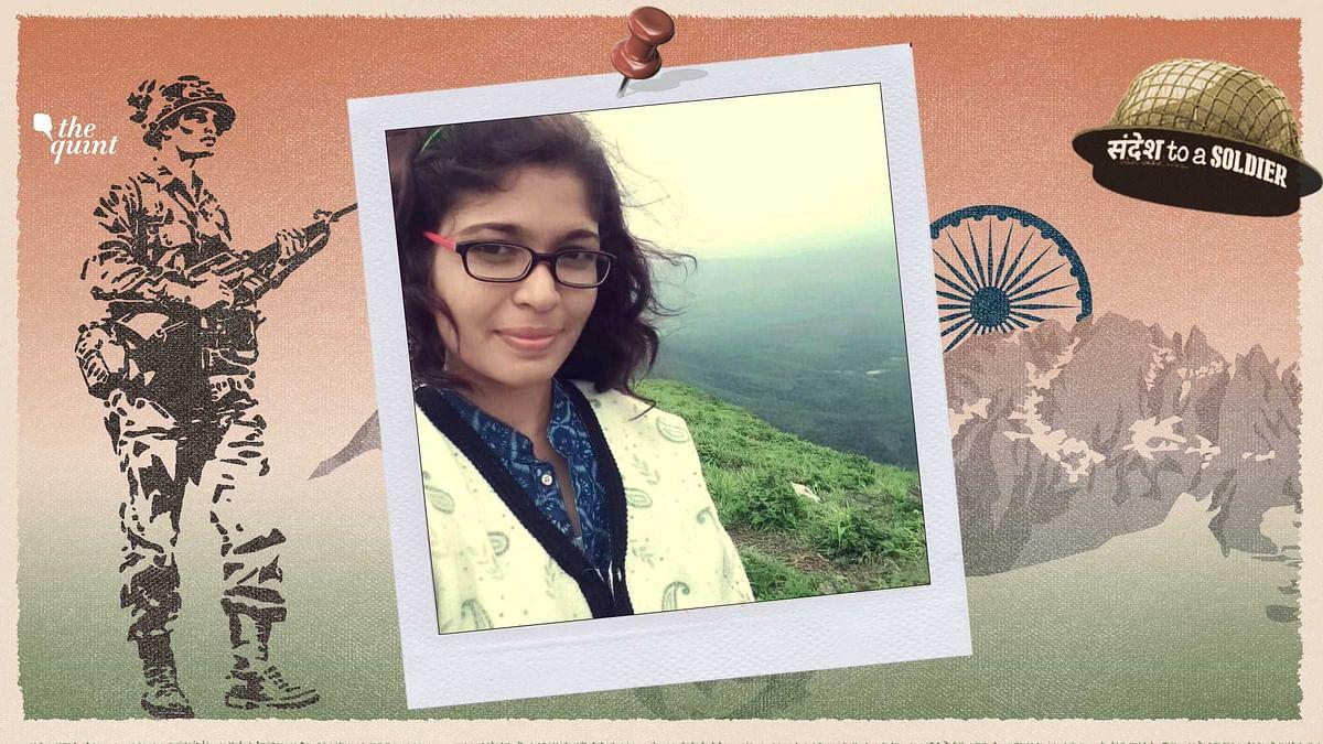 Anjana Jaya Prakash from Kerala sends her sandesh to a soldier.