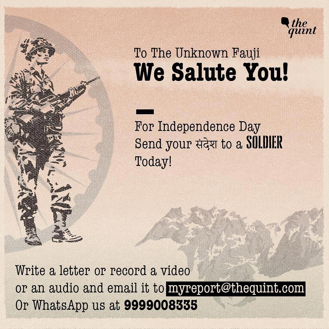 Dear Soldier, I Admire Your Indomitable Spirit