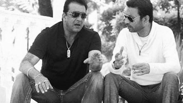 Sanjay Dutt with Irrfan Khan.