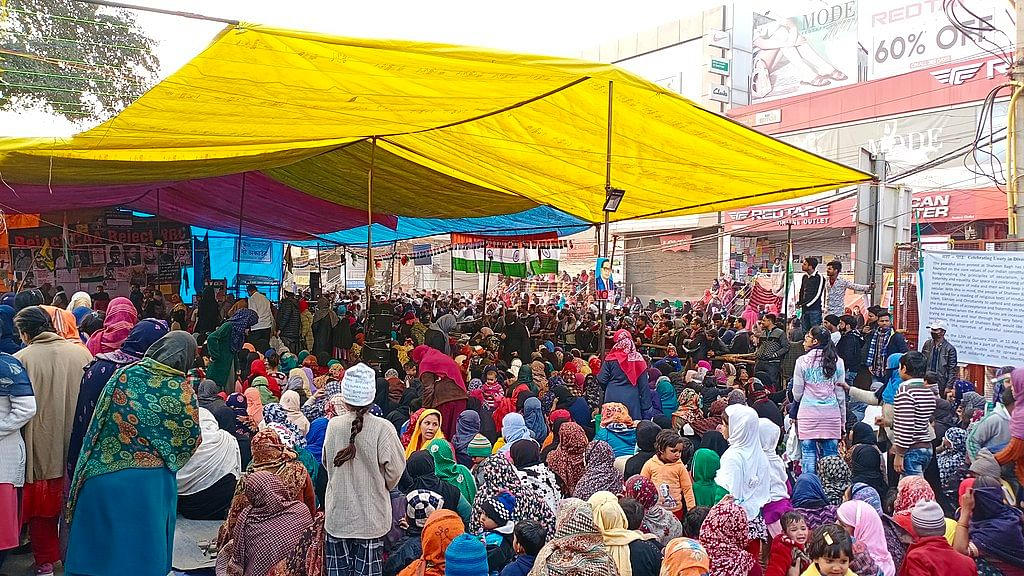 The main protest area of Shaheen Bagh protests 15 Jan 2020.