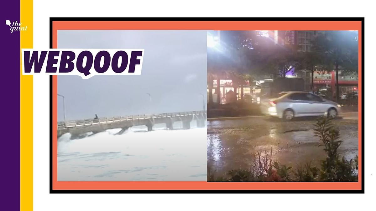 Old, Unrelated Visuals Used to Show Potholes, Huge Waves in Mumbai