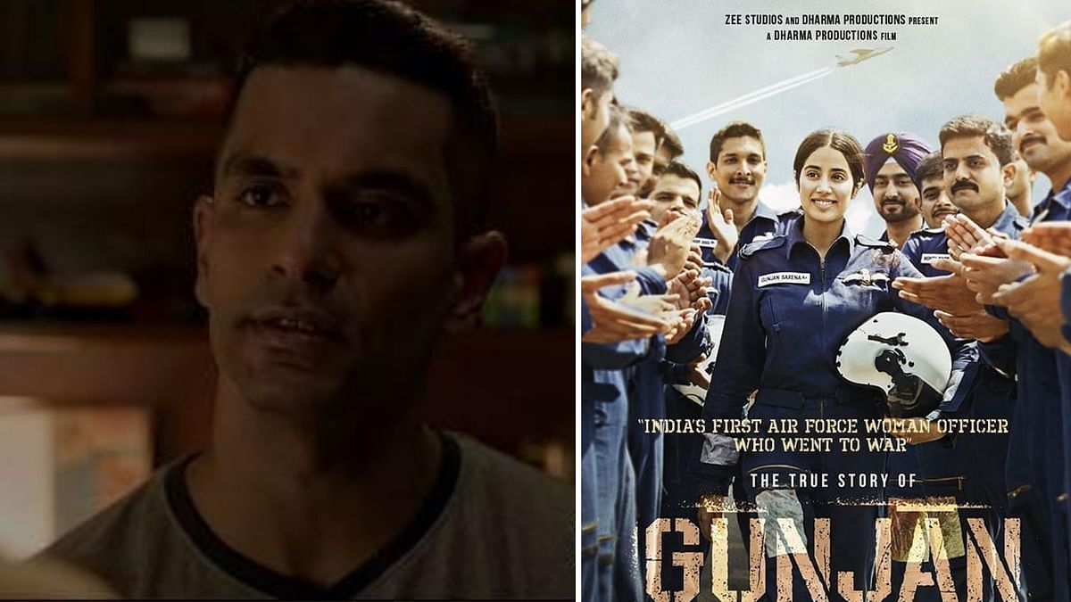 Angad Bedi plays Gunjan Saxena's brother in the film.