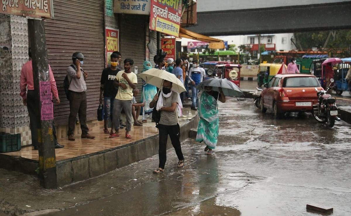 Delhi witnessed incessant rainfall on Wednesday.