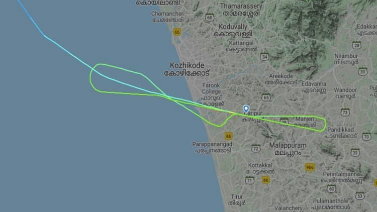 Flight Radar Shows Air India Express Circled Twice Before Landing