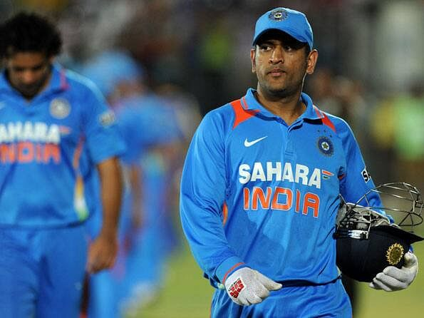 MS Dhoni at the 2012 ICC World Twenty20 in Colombo.