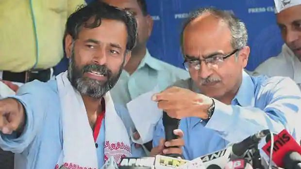 'Prashant Bhushan Stands for Complete Fairness': Yogendra Yadav