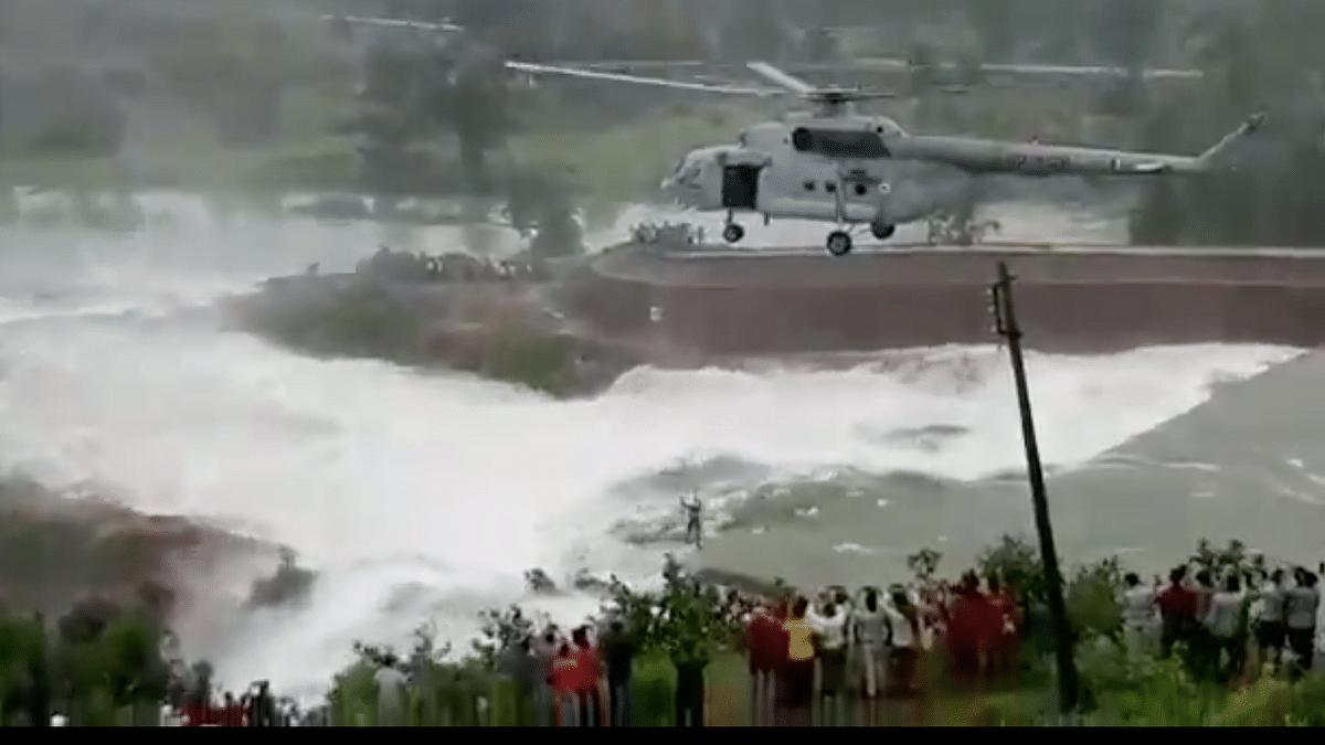 IAF Rescues Man Stranded Overnight in Chhattisgarh's Khutaghat Dam
