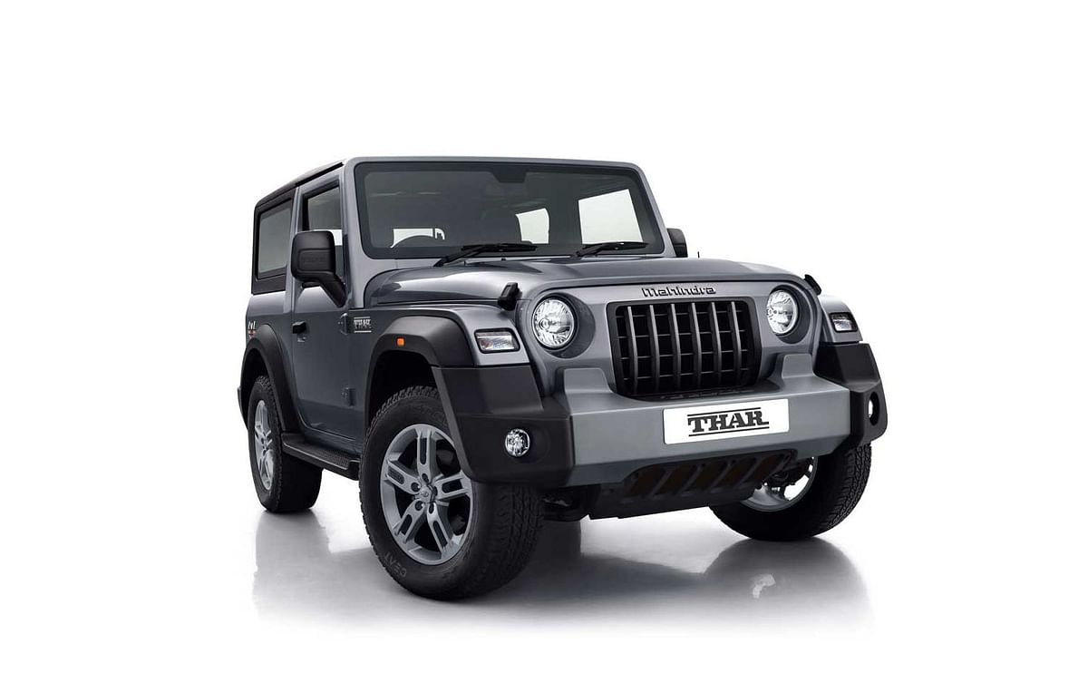 The front grille has been inspired from the classic Thar.