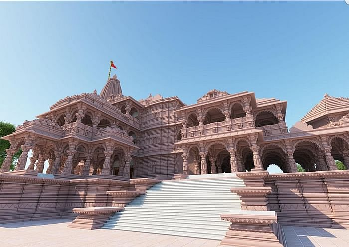 The proposed design of the Ram Temple in Ayodhya.